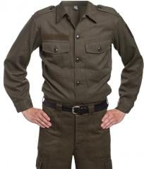 Austrian M75 Field Shirt, Surplus. Used here with matching trousers.