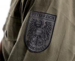 Austrian M75 Field Shirt, Surplus. Some shirts have the Bundesheer insignia on the sleeve.