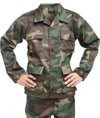Mil-Tec kids BDU jacket, Woodland