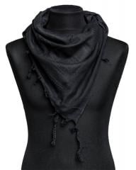 Shemagh scarf, black, girl pic