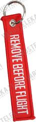 Key tag, REMOVE BEFORE FLIGHT
