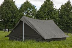 French two-person tent, olive drab, surplus