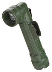 Mil-Tec angle head flashlight, LED, olive drab