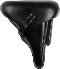 Wehrmacht P08 holster, black leather, reproduction