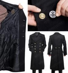 Mil-Tec Navy Greatcoat. Two sets of buttons are included