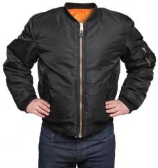 MFH MA-1 bomber jacket, black
