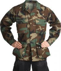 Teesar BDU jacket, ripstop, Woodland
