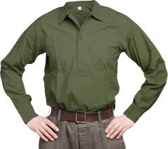 Swedish service shirt, green, surplus
