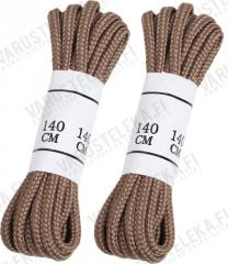 Mil-Tec shoe laces, polyester, two pairs, coyote tan