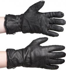 British GS leather gloves, black, surplus