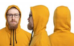 Särmä Merino Wool Hoodie. The hood has been updated, it is now made of three pieces instead of two. Therefore it doesn't rise so high above your head.