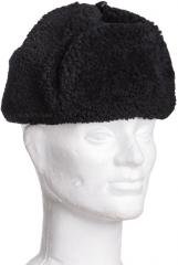 Finnish fur hat, dark blue, surplus