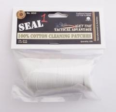 SEAL 1 100% Cotton Cleaning Patches, 100 pcs bag