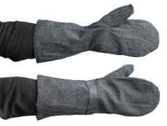 Swiss mittens with flannel lining, surplus