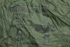 US waterproof bag, surplus. The bags have the official closure instructions printed on the side.