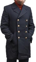 Bundesmarine pea coat, long, dark blue, surplus