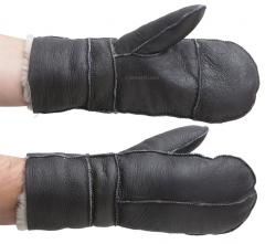USAF leather mittens B-3, brown, repro