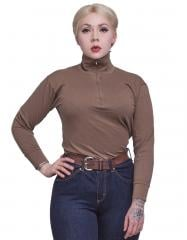 BW turtle neck shirt, brown, surplus