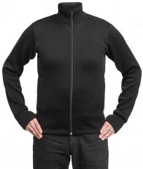 Särmä Merino Wool Sweater w/ Zip, Black