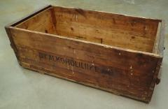 Finnish Molotov cocktail and booze crate, without lid, surplus