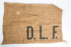 Danish hessian sack, surplus.