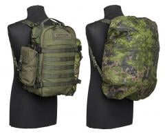 Särmä TST Backpack cover. 25L over a Särmä TST Combat Pack with side pouch and tarp roll.
