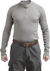 Dutch turtleneck undershirt, zippered, gray, surplus