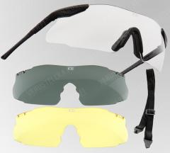ESS ICE 3 ballistic glasses w. two spare lenses.