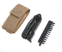 Gerber Center-Drive multitool. Comes with a PALS pouch and a bit kit.