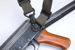 Magpul Paraclip. A Paraclip and the MS1 sling form a two- or single point sling for an AK