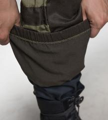 Tactic-9 Gorka field trousers, brown. Snow lock feature on the leg.