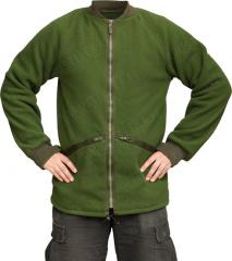 British CS95 fleece jacket, olive green, surplus