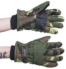 Mil-Tec winter gloves, Woodland, butt-ugly
