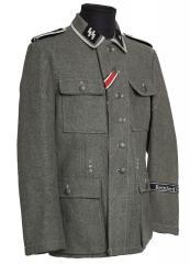 W-SS M43 wool tunic, repro, Unterscharführer, used, 50