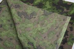 Foxa PES Net 260 Camo Mesh Fabric, M05 Woodland, by the meter. The reverse side.