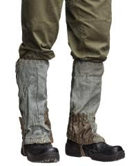 Swiss gaiters, grey, surplus
