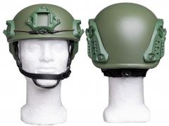PGD ARCH High Cut helmet, NIJ IIIA. The green 2020 helmet without the loop attached.