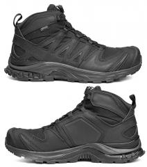 Salomon XA Forces MID GTX, black. Reinforcements on the outside and instep