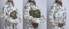 Särmä TST L7 Camouflage Anorak. You can fit combat kit inside the anorak and get access to it by opening the zipper.