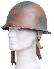 SADF M63 steel helmet, camo painted