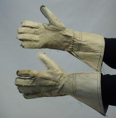British dispatch rider gauntlets, WW2 #1
