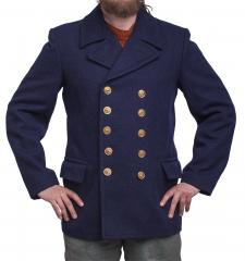 Volksmarine Pea Coat, navy blue, surplus