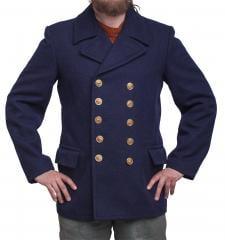 Volksmarine Pea Coat, navy blue, surplus