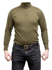 Italian turtle neck shirt, olive drab, surplus