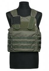 C.P.E. Pro SAPI NIJ IIIA vest w. MOLLE, Green, X-Large
