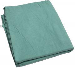 Czechoslovakian bedsheet, linen, green, 220 x 120 cm, surplus