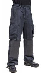 BW military police combat trousers, black, surplus