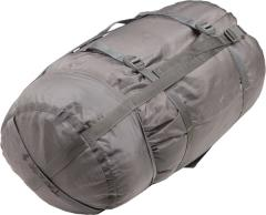 US MSS Modular Sleeping Bag System, surplus. Some of the compression bags are Foliage green.