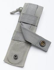 Ontario Model 1 Strap Cutter, surplus. Basic single column MOLLE/PALS webbing in the back.