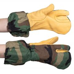 US M-1965 shell mittens with trigger finger, Woodland, surplus